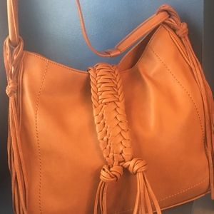 Sole Society Vale Faux Leather Hobo Bag
